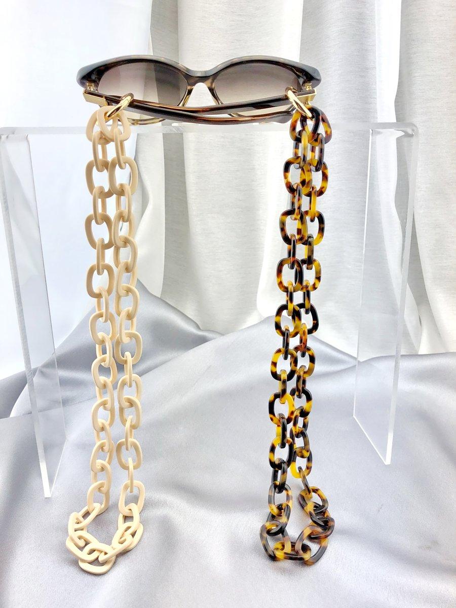 Ketting juwelen voor zonnenbril/leesbril, vleugeltjes bril (70 cm)