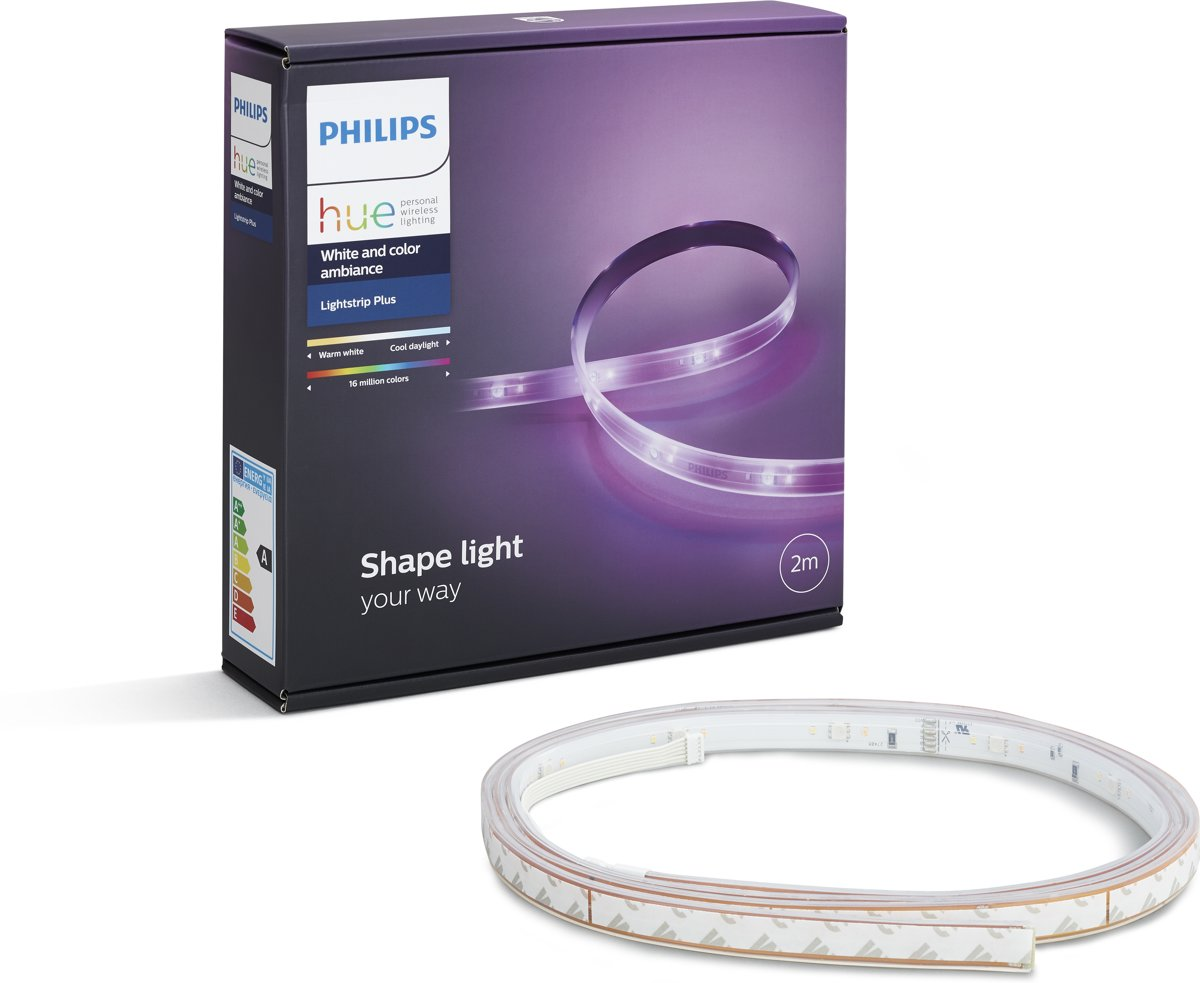 Philips Hue White and Color Ambiance - Lightstrip Plus - 2 m - Wit