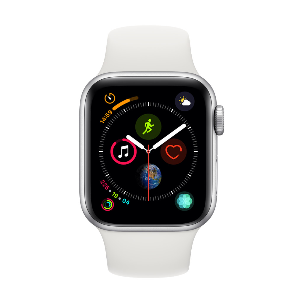 Apple Watch Series 4 40mm Zilver Aluminium/Witte Sportband