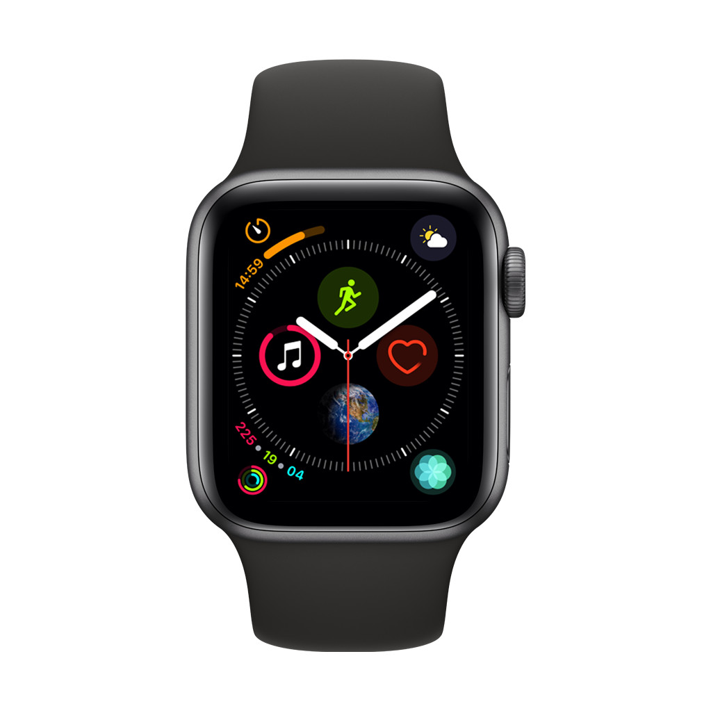 Apple Watch Series 4 40mm Space Gray Aluminium/Zwarte Sportband