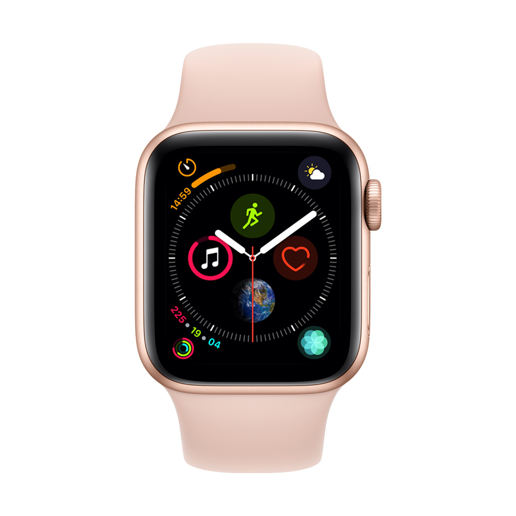 Apple Watch Series 4 40mm Goud Aluminium/Roze Sportband