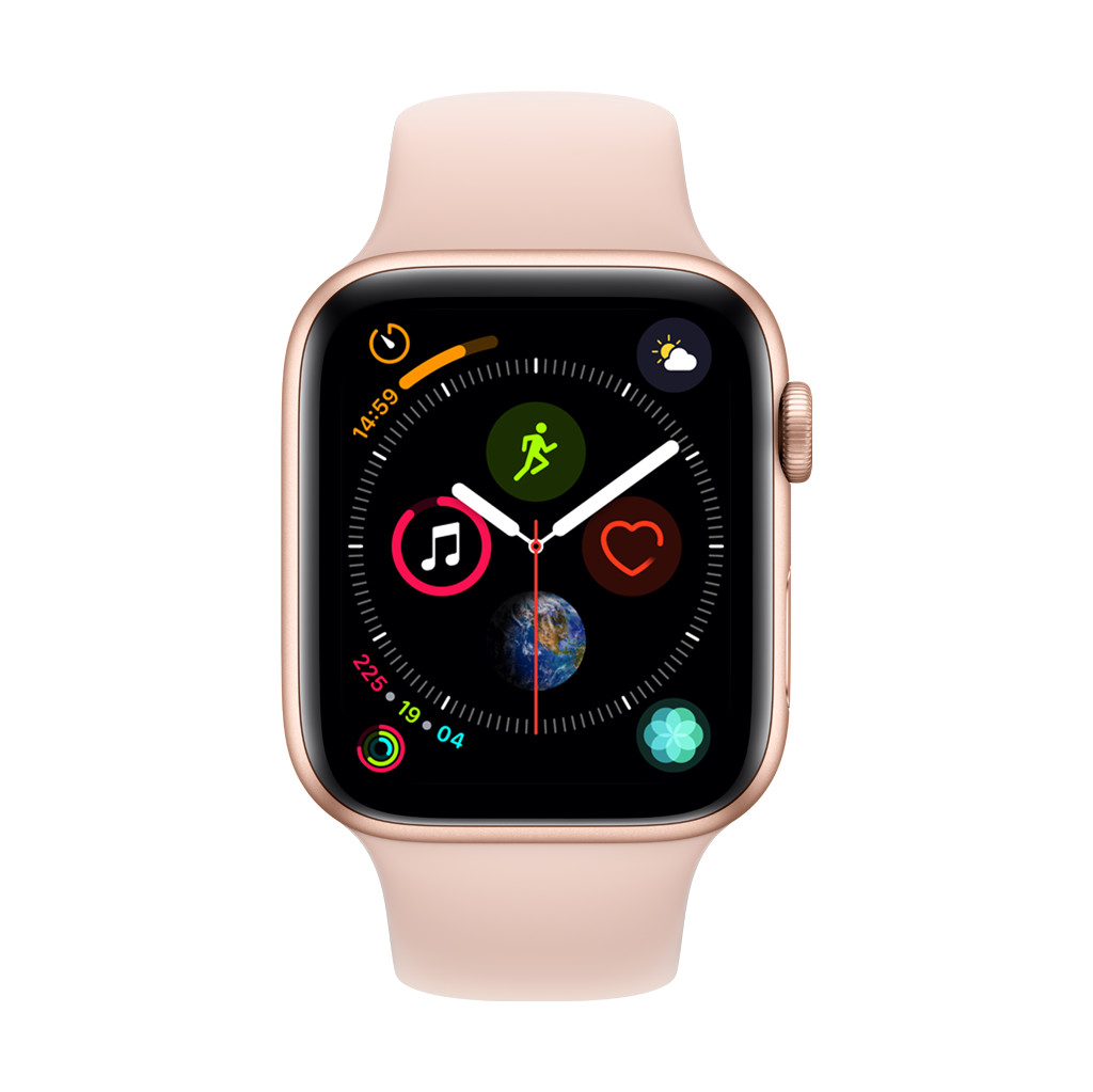 Apple Watch Series 4 44mm Goud Aluminium/Roze Sportband